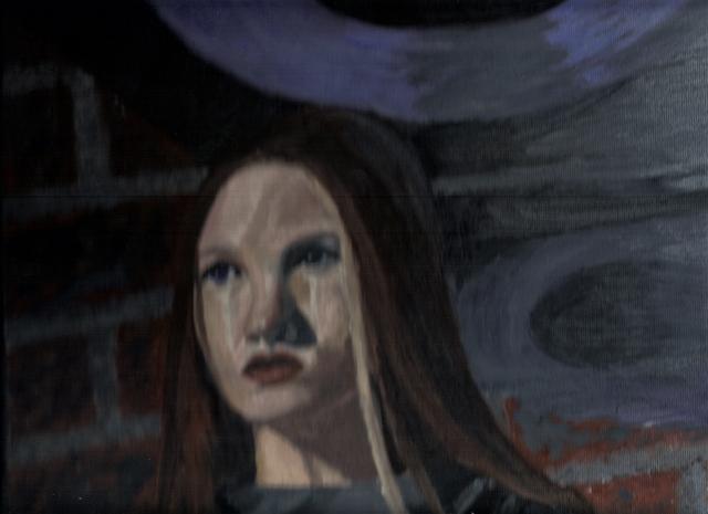 Jessica Veldsra: Girl- Oil Painting
